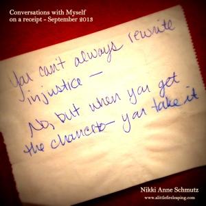 Conversations - Injustice